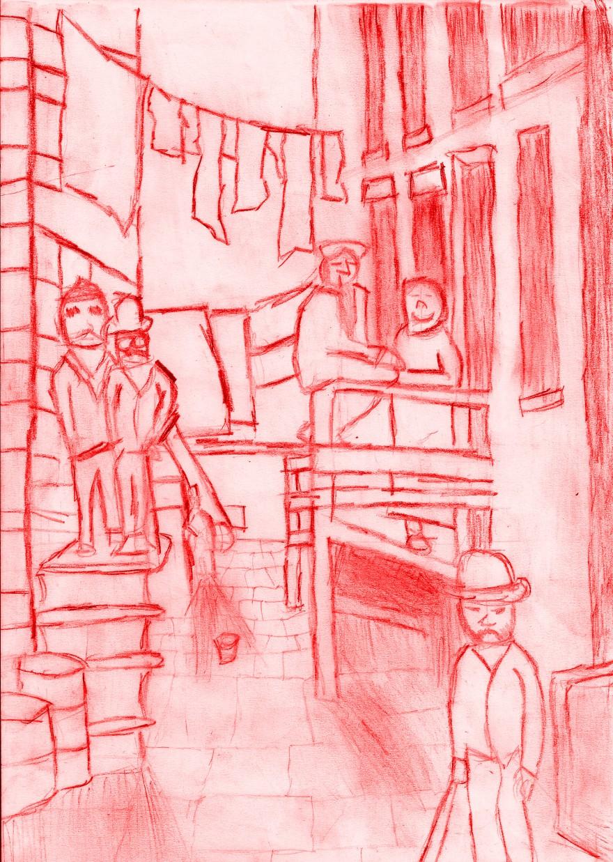 street scene red