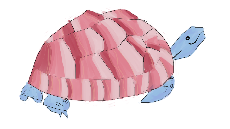 turtle with bacon instead a shell web.png
